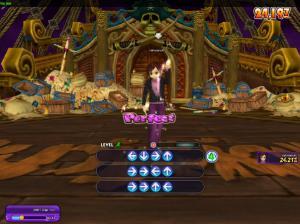 Panah-panah yang harus dipencet agar karakter menari