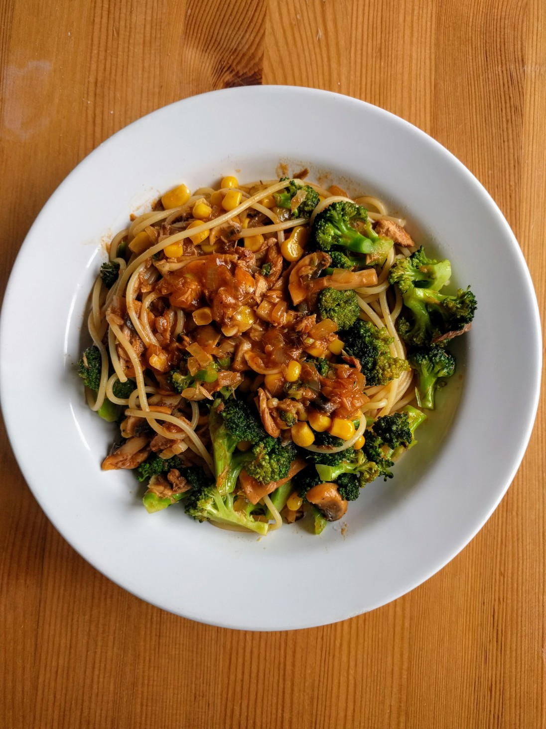 Spaghetti with Tuna and Vegetables